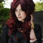 Brown hair color with red shimmer