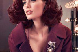 Classic volume burgundy hair color bob