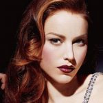 Red vintage hairstyle