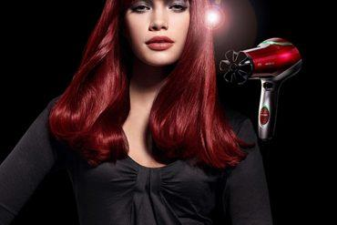 Thick hairstyle with red hair color
