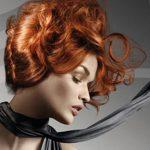 A red volume updo