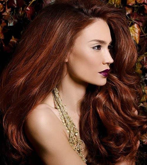 Auburn Highlights Brown Hair Chestnut Brown Hair With Pictures to pin ...