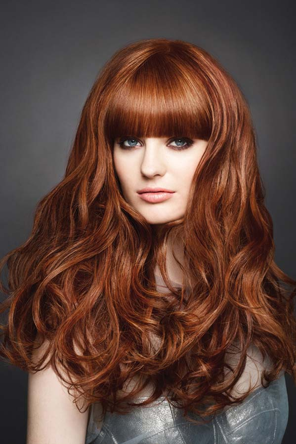 long curly hairstyle with thick bangs gorgeous hairstyles haircuts. Black Bedroom Furniture Sets. Home Design Ideas