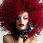 Unusual reds; pomegranate red hairstyles.