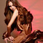 Long thick chestnut hairstyle