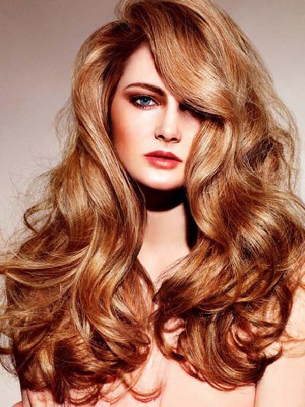 Curly light copper hairstyle * Gorgeous Hairstyles & Haircuts
