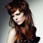 Brown red hair color with different kind of red hair color highlights
