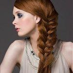 Light auburn hair color braided hairstyle