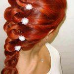 Tangerine braided hairstyle