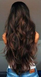 Chocolate brown hair colors with Mahogany strands