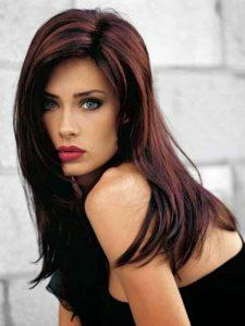 Chocolate and burgundy hair colors