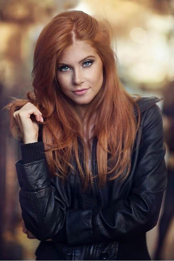 Hair colors and hairstyles for fall, Long natural red hair colors