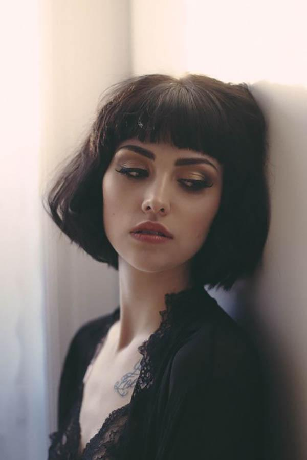 Short bangs bob haircut for women