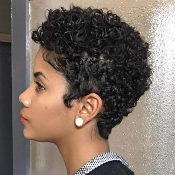 Short natural haircut for women