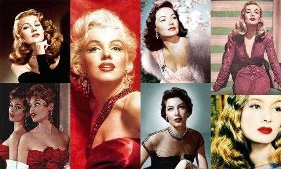 Hollywood stars, vintage hairstyles