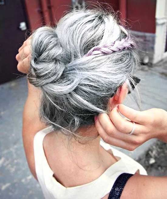 Grey & Silver hair colors 2018