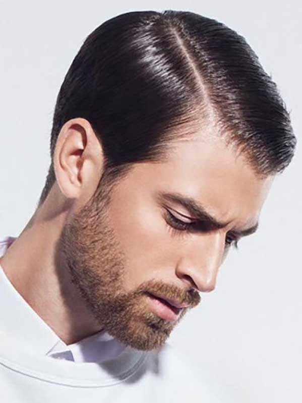 Haircut for men with side parting