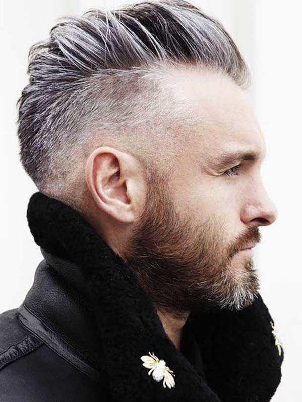 Haircut for men with receding hairline